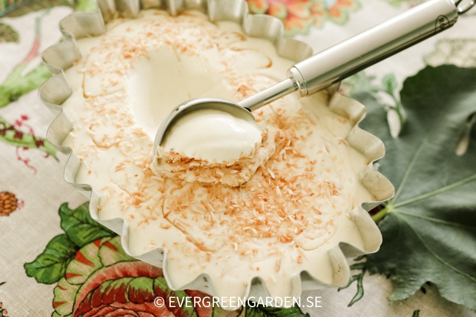 glass smaksatt med fikonblad